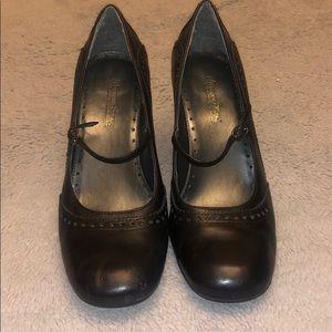 Madeline Stewart Leather Heels-Offer/Bundle toSave